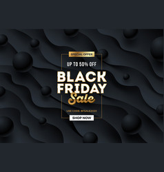 black friday template design vector image