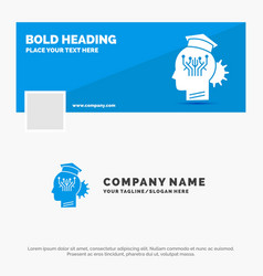 Blue business logo template for knowledge vector