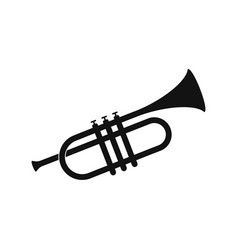 brass trumpet icon vector image