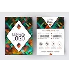 Brochure corporate blank template vector
