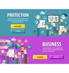 business logo design template protection vector image