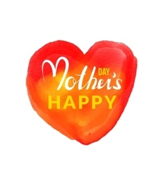 Calligraphic lettering happy mothers day with hand vector