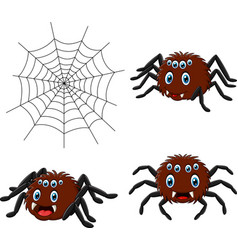 cartoon spider collections set vector image