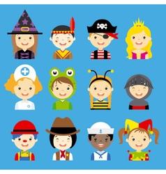 Children dressed avatar vector