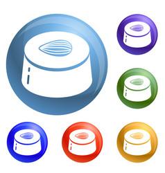 choco bonbon icons set vector image
