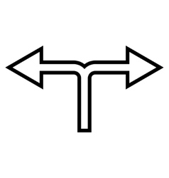 Choice Arrow Left Right Outline Icon vector image