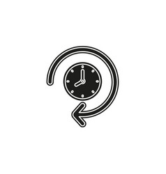 clock 24 hours icon time vector image