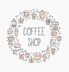 coffee shop concept set of coffee vector image