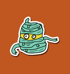 Cool cartoon monster face halloween vector