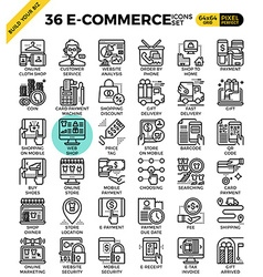 E-commerce business icons vector image