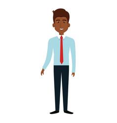 Elegant businessman black avatar character vector