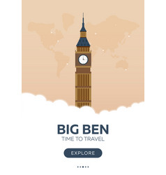 england london big ben time to travel travel vector image