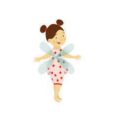 fairy cute girl set isolated vector image