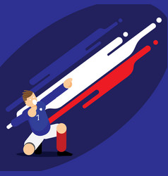 France soccer player dab celebration template vector
