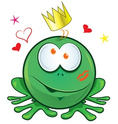 frog cartoon crazy for love vector image