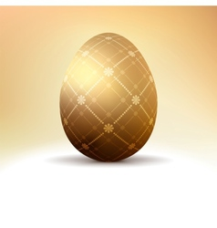 Golden egg with vintage pattern decoration EPS 8 vector image