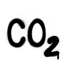 Graffiti carbon dioxide co2 formula sprayed vector