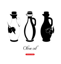 graphic olive oil concept vector image