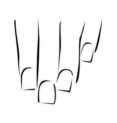 Graphic showing nail care or manicure vector image