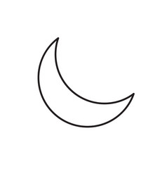 half moon icon vector image