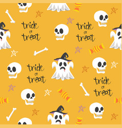 halloween seamless design elements pattern vector image