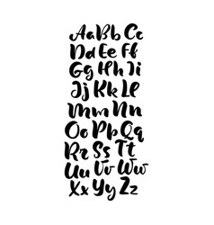 hand lettering alphabet design handwritten brush vector image