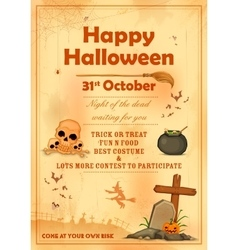 Happy Halloween party poster vector