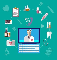 Healthcare Infographics Icons Set vector