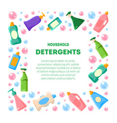Household detergents banner template with place vector