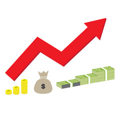 Income increase strategy icon on white background vector