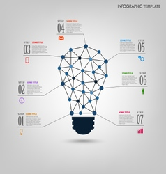 Info graphic with design abstract light bulb vector image