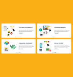 Internet banner set customer testimonials vector