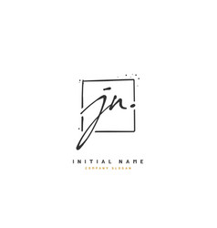j n jn beauty initial logo handwriting logo vector image