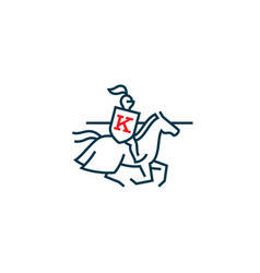 knight logo vector image