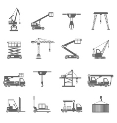 Lifting Equipment Icons vector
