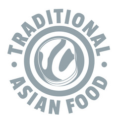 Lunch asian food logo simple gray style vector