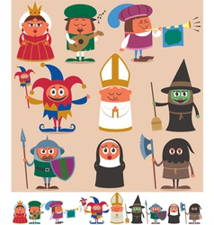 Medieval people 2 vector