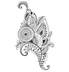 mehendi pen drawing vector image
