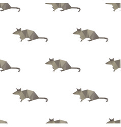 mouse triangle shape seamless pattern backgrounds vector image