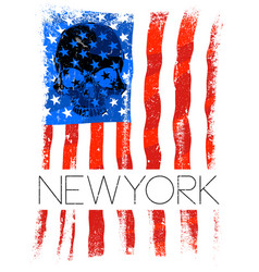 Newyork fashion tee typography graphic design usa vector