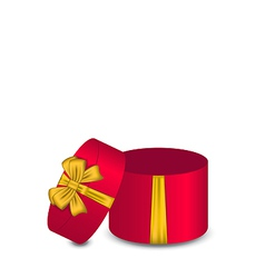 Open gift box with bow vector
