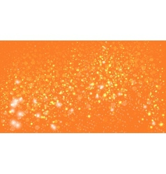 orange background with bokeh lights vector image