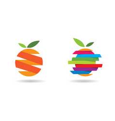 orange logo design vector image