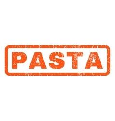 Pasta Rubber Stamp vector image