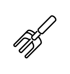 pitchfork rural agriculture thick line vector image