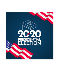 Presidential election 2020 united states template vector
