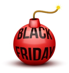 Red Bomb About To Blast with Black Friday sales vector
