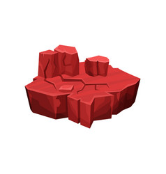 Red canyon fantastic island for game user vector