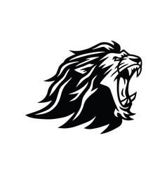 Roaring lion head logo vector