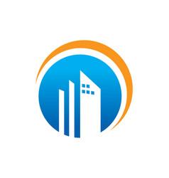 Round building company logo vector